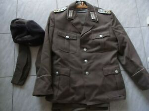 Vintage DDR NVA Uniform-Jacke / Hose / 2x Mütze K150820E