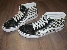 Vans Checkers Canvas Suede Black & White 11 High Hi Top Sneaker Shoes Men Skate