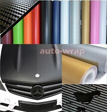 Optional - Nice Car 3D Carbon Fiber Vinyl Wrap Sheet Sticker Film 13 Colours ABC