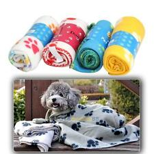 Hot Sell Lovely Design Pet Dog Cat Paw Prints Fleece Couture Blanket Mat New
