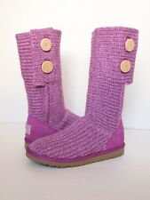 UGG AUSTRALIA Cardy Boots BIG KIDS 6 Cactus ROSE PINK Classic Sheepskin Tall W8