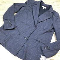 U-111 Treasure & Bond soft plaid  jacket BLUE PLAID size M nwt