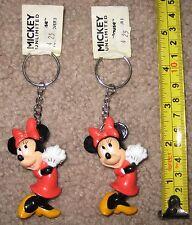 Lot / 2 New Disney Applause Mickey Unlimited Keychain Minnie