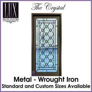 LUX Wrought Iron Doors - The Crystal - All Metal - FREE DELIVERY AUSTRALIA