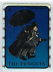 1992 BATMAN RETURNS Vending Machine Prism Sticker DC Comics #15 The PENGUIN .