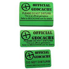 Small & Micro Geocache Label Sticker for Geocache Hide Weather Proof Resin Print