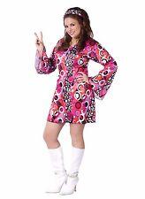 Feelin' Groovy 60's 60s Mod Disco Retro Plus Size Adult Costume, 16W-20W