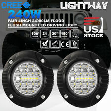 4inch 240W CREE LED Work Light Driving Lamp Flush Mount Trailer Truck Spot Flood