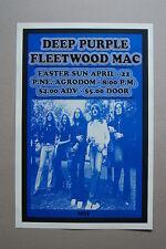 Deep Purple Concert Tour Poster 1973 Agrodom Fleetwood Mac