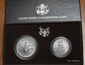 """1989 - D $1 & $.50 US """" Bicentennial Congress """" - Two (2) coin set with all OMP"""