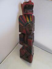 Statuette en bois - vieux mexicain sculpté à la main - art populaire design 40cm