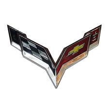 Chrome Metal Crossed Flags Logo Emblem Decal For Chevrolet Badge Car Sticker