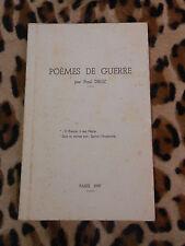 POEMES DE GUERRE - Paul Droz - 1957