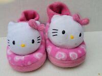 Hello Kitty Girls Children Plush Slippers Size 9-10 Pink EXCELLENT CONDITION