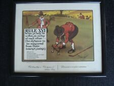 Charles Crombie Framed Print Perrier Rules of Golf