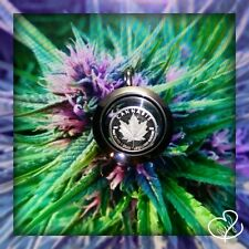 1 g Fine Silver * CANNABIS LEGALIZE NATURE * round in WATERPROOF Keepsake Locket