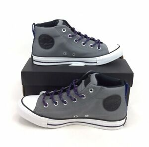 NEW Converse Chuck Taylor All Star Street Mid Gray Blue Shoes Sneakers Mens 8
