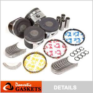 00-06 Audi Volkswagen 1.8L Turbo DOHC Piston&Bearing&Rings Set (19mm Wrist Pins)