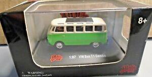 MALIBU INTERNATIONAL 1:87 MINI DIE CAST CAR VW VOLKSWAGEN BUS T1 SAMBA 26 WINDOW