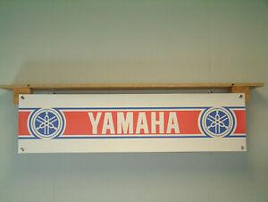Yamaha Motor Banner retro Motorcycle Workshop Classic Bike Garage Display sign