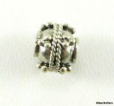 Bead Charm - Sterling Silver Jewelry Making Crafting Bali Style