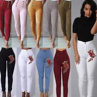 Women High Waist Slim Skinny Leggings Stretchy Pants Jeggings Pencil Pants S-XL