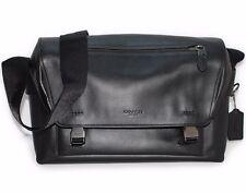 COACH Bleecker 72050 Mens black Leather MANHATTAN Messenger bag QB/BK