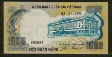 South Vietnam 1000 dong Nd (1972) P34a Au+ building / elephants