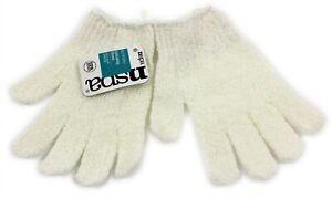 Exfoliating Body Scrub Gloves Shower Bath Mitt Skin Massage Spa White Color UK