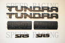 FOR 2014-2019 Toyota Tundra Matte Black Out Emblem Badges tailgate 6 Piece Kit