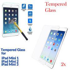2X Premium Tempered Glass Film Screen Protector Guard For Apple iPad Mini 1 2 3