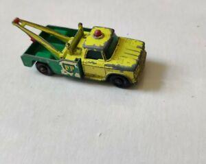 Matchbox Dodge Wreck (Tow) Truck (#13) - ca. early 1960s, Yellow/Green