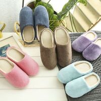 Men Women Soft Touch Warm Indoor Slippers Mute House Home Anti-slip Shoes US