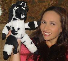 "Rare 15""Jared D Lee Studio Checkers Chubby Zebra Plush 1993 STUFFED LOVEY TOY"