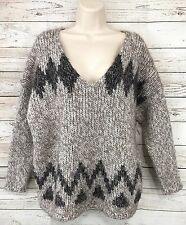 Madewell Wallace Log Cabin Pullover Sweater Wool Mohair Chunky Knit Size Large