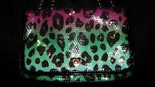 NWT BETSY JOHNSON GREEN PURPLE BLUE W/ SEQUINS PURSE MSRP $78 #12