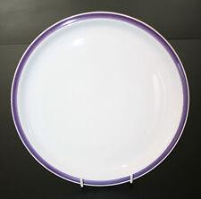 Anbiet-Menueteller D= 24,5 cm-Melitta-Fliederfarbener Rand- 1960er Jahre