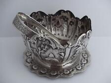 Beautiful Quality Kashmir Kashmiri Islamic Solid Silver Bowl, Snips & Tray