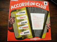 accordéon club n° 8 - legrand - Moutet - Chalier -  ducretet thomson 300 V020