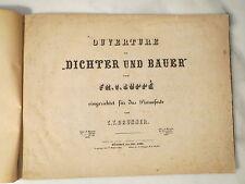 Uralte NOTEN - Fr. v. Suppé - W. A. Mozart - Rossini - Pianoforte / Klavier