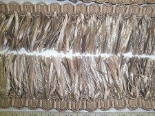 "9 yards RIBBON  SKIRT  FRINGE 3"" TAN/BEIGE MIX  Decorative  Fabric  Trim  W3477"
