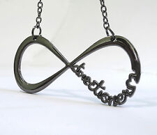 Collar Colgante ONE DIRECTION DIRECTIONER 1D ACERO INFINITO INFINITY necklace