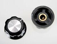 Bakelit Drehknopf Ø 27 mm Potiknopf Stellknopf Einstellknopf 6 mm Achse… [#1021]