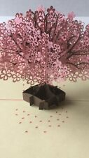3d Pop Up CHERRY BLOSSOM TREE Greeting Card