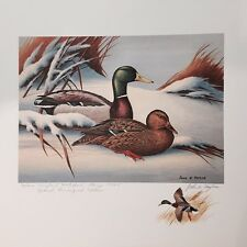 1974 MARYLAND First of State Duck Stamp Print Special Remarque Edition # 78/200