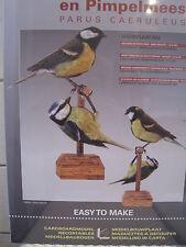 Kohlmeise Blaumeise Meise Vogel ca. 13cm Modellbaubogen Kartonmodel Bastelbogen