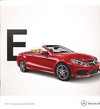2015 Mercedes Benz E-Class Coupe Cabriolet 32-page Car Sales Brochure E400 E550