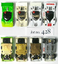 4 TYCO Pro +HP2 Chaparral 2G RARE #2 HO Slot Car VaRiAtIoNs 1970-1978 Lot428 A+