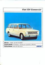 Fiat 124 Comercial / Estate Portuguese market full colour sales brochure