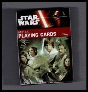 Disney STAR WARS HEROES Playing Cards Official Poker Size USA New in Package!